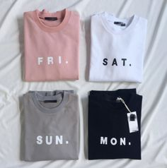littlealienproducts: Days of the Week Sweatshirts from HhotaruUse the code 'LittleAlien' to get 10% off!