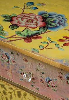 Decoupage inspiration. Vintage Floral 6 Heigh Bedroom Chest Of Drawers Wooden Cabinet Storage Unit eBay.