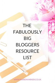 As this blog is all about your blogging hustle, it would be rather useful if there was a list you could go to of lots of jolly useful blogging stuff. So here is