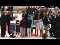 Francisco llega a Estados Unidos: Obama lo recibe a pie de pista