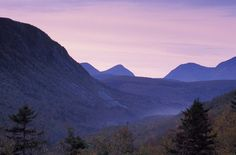 Dawn in the Zealand Valley, White Mountains, New Hampshire. Backpacked it in 2005.
