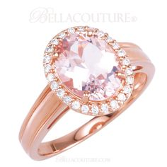 BELLA COUTURE ® - (NEW) BELLA COUTURE® Gorgeous Pink Morganite 1/6 CT Pave' Diamond 14kt Rose Gold Ring , $695.00 (http://www.bellacouture.com/new-bella-couture-gorgeous-pink-morganite-1-6-ct-pave-diamond-14kt-rose-gold-ring/)
