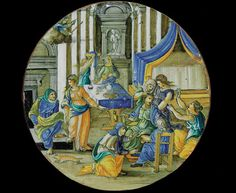 Fine dining: A plate depicting the birth of Hercules (Urbino, 1530)