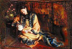 paintings of teatime   Oil on Wood Painting by George Tsui
