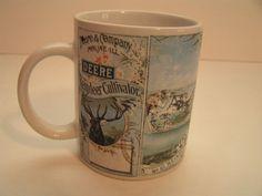 "JOHN DEERE ""DEERE REINDEER CULTIVATOR"" COLLECTIBLE COFFEE/TEA MUG/CUP BY GIBSON…"