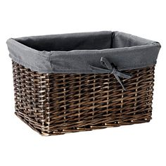 $30 - Something like this to sit on the top of the linen cupboard suggested in the kitchen - more storage and a nice detail. Nacelle Basket Grey 35cm x 25cm x 21cm Baskets, Linen Cupboard, Household Items, Detail, Storage, Nice, Grey, Kitchen, Top