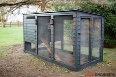 """Are you ready to check """"chicken coop"""" off your honey-do list? Last year, Rogue Engineer hatched this beautiful, modern chicken coop using our innovations. Check out his plans."""