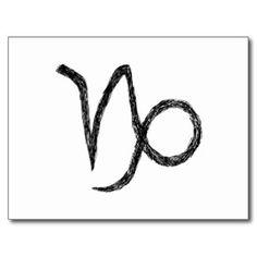 Steenbok. Het Teken van de Astrologie van de Briefkaart