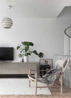 Living / time of the aquarius Living Tv, Home Living Room, Living Room Decor, Living Spaces, Interior Styling, Interior Design, Space Interiors, Scandinavian Interior, Scandinavian Style