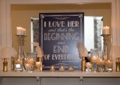 Wedding sign with th