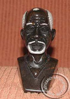 An African handcrafted stone bust of a Shona woman from Zimbawe. The Shona bust is carved from local sopastone with realistic feathure and set in the natural color of the stone Royal Lineage, Heart Piercing, Sculptures, Lion Sculpture, Soapstone, Stone Carving, Hand Carved, African, Statue