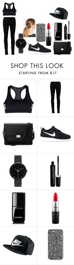 """""""On A Walk"""" by sahara2313 ❤ liked on Polyvore featuring adidas, Yves Saint Laurent, Aspinal of London, NIKE, I Love Ugly, Marc Jacobs, Chanel, MAC Cosmetics and L. Erickson"""