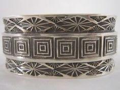 Spiral Squares - Men's Sterling Bracelet
