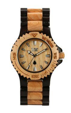 DATE BLACK/BEIGE | WeWOOD Wooden Watches - The Original Wood Watch
