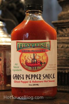 Ghost Pepper Sauce by Hot Line Pepper Products • This sauce packs a punch. As you would expect from any sauce that contains Jolokia, Habanero, Jalapeno and Chile De Arbol peppers. There is some great fruitiness that you can taste just before the heat kicks in and smacks you in the lips. Overall, this is a great sauce.