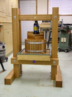 apple cider press -- after Tung oil application