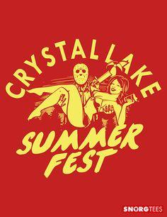 """Crystal Lake Summer Fest"" red t-shirt"