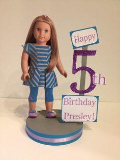 American Girl Mckenna custom birthday party centerpiece