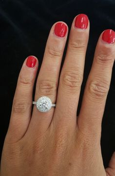 A gorgeous round diamond double halo engagement ring - ring by Dubai Rocks