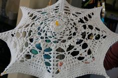 Crochet Umbrella Free Tutorial, via Flickr. Hand Knit Blanket, Knitted Blankets, Crochet Ideas, Crochet Projects, Crochet Patterns, Loom Crochet, Lace Parasol, Crochet Wedding, Crochet Jacket