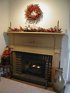 Holiday Fireplace Decor