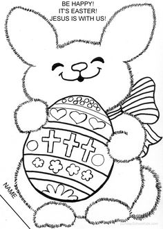 Catholic Easter Bunny coloring page Make your world more colorful with free printable coloring pages from italks. Our free coloring pages for adults and kids. Fox Coloring Page, Bunny Coloring Pages, Bible Coloring Pages, Coloring Pages For Kids, Coloring Books, Coloring Sheets, Free Coloring, Coloring Worksheets, Free Worksheets