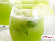 Vitamix Recipes. Frosty Basil Lemonade. This is quick, easy, and delicious!
