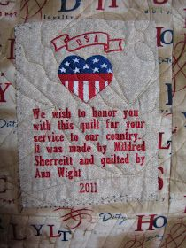 Quilting In The BunkHouse: Purple Heart Quilt of Valor