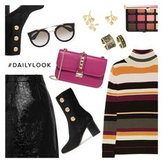 """Daily Look"" by dressedbyrose ❤ liked on Polyvore featuring Paul & Joe, Carven, Valentino, Chloé, Prada, Kenneth Jay Lane, Kendra Scott, Sephora Collection, ootd and Dailylook"
