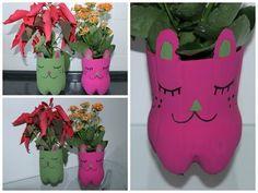 DIY - Vaso de Gatinho e Pug (Com Garrafa Pet) - YouTube