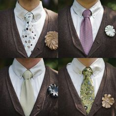Love the boutonnieres!                                   Ben Blood ~ Treehouse Wedding via Bridal Musings
