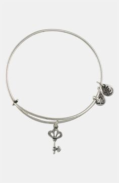 Alex and Ani 'Skeleton Key' Expandable Wire Bangle in silver. Got this from my husband for Christmas 2013.