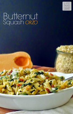 Butternut Squash Orzo Pasta | by Life Tastes Good