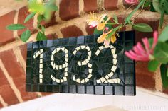 Add some curb appeal to your home with mosaic street numbers!