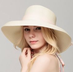 Chiffon large bow straw hat for women elegance UV package sun hats