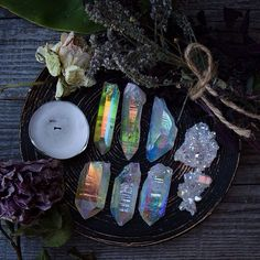 Altar Inspiration #crystals #pastelwitch                                                                                                                                                     More