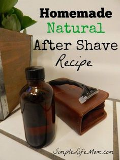 DIY Masque : Description Homemade Natural After Shave Recipe with aloe, witch hazel, and essential oils to soothe and calm skin by Simple Life Mom Essential Oil For Men, Oils For Men, Young Living Essential Oils, Essential Oil Blends, Homemade Face Masks, Homemade Skin Care, Diy Skin Care, Homemade Beauty, Aftershave