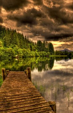 Loch Ard, Scotland, taken just before sunset. by Don Alexander Lumsden