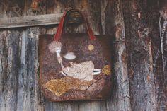"Felted Bag Handbag Purse Felt Nunofelt Nuno felt Silk Eco handmadered bag Fiber Art boho grey bag a gift for woman""Angel over fields"""