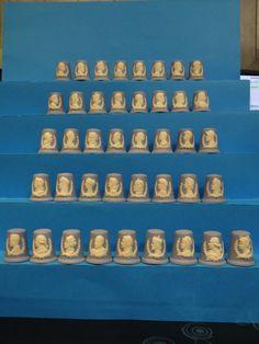 Colección completa Reyes y Reinas de Inglaterra. Wedgwood. Thimble-Dedal Fingerhut.