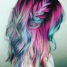 Mermaid hair don't care. #mermaids #mermaidlife #mermaidhair #color