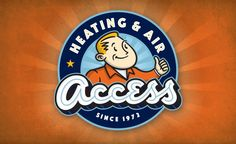 Vintage logo design style for a HVAC contractor in Idaho. http://www.graphicd-signs.com