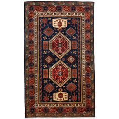 Shirvan Hand Knotted Area Rug - 4x6