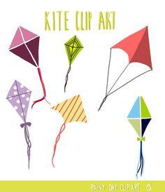 Kite Clip Art by RainyDayClipArt on Etsy, $2.00