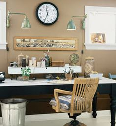 A cozy yet chic home office space!
