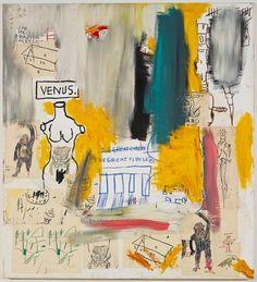Jean-Michel Basquiat, Untitled (Venus/The Great Circle), 1983 Jean Basquiat, Jean Michel Basquiat Art, Basquiat Tattoo, Basquiat Paintings, Basquiat Prints, Graffiti Kunst, Aya Takano, Art Brut, Museum Of Modern Art