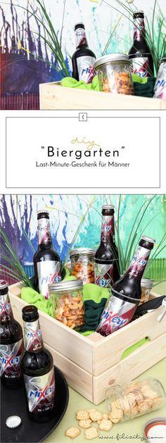 """DIY """"Biergarten"""" -  Last-Minute-Vatertagsgeschenk"""