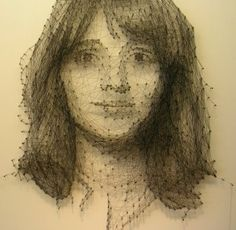 nails and thread portraits - kim kamens
