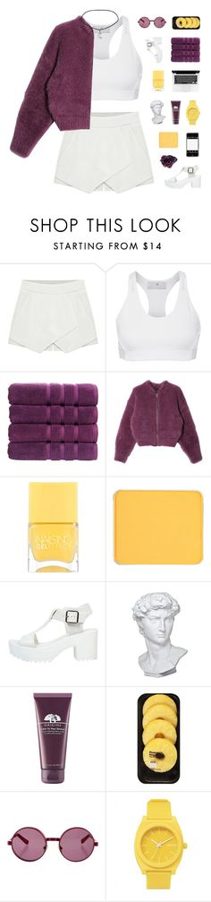 """""""glory days"""" by luminiscencia ❤ liked on Polyvore featuring adidas, Christy, Chicnova Fashion, Nails Inc., shu uemura, DK, Eichholtz, Origins, Lindt and House of Holland"""