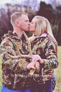 Hunting engagement pics! #thehuntisover #camo